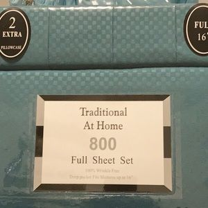Traditional At Home 6pc Full SheetSet Forest green
